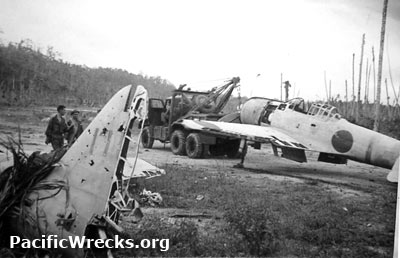 Pacific Wrecks Japanese Zero Wrecks Captured At Munda