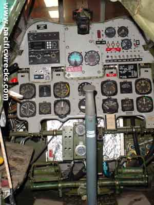 Pacific Wrecks - A6M2 Zero 5356 cockpit interior at CAF Camarillo