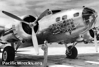 """B-17D """"The Swoose"""" 40-3097 parked at Miami Credit: USAAF Date: June 1945.  B&W High Resolution Version Acquire This Image   Contact Us"""