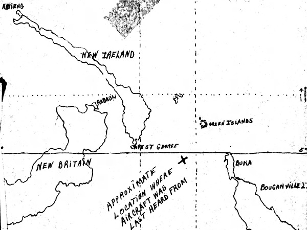 Pacific Wrecks Map Depicting The Loss Location Of B 24d Hells