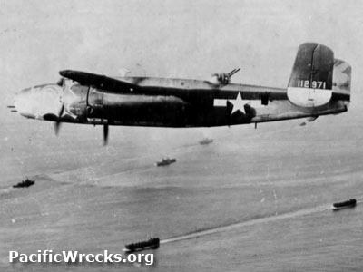 Pacific wrecks b 25c dirty dora 41 12971 over invasion for B b com