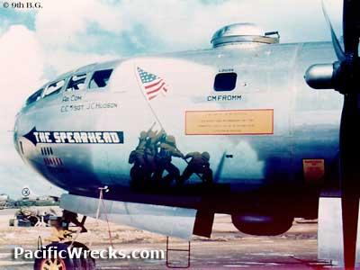 A B-29 with nose art of the  B29 Bomber Art