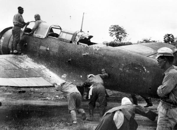 Pacific Wrecks - Japanese ready B5N2 Kate Tail 302 at Vunakanau