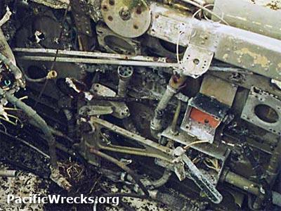 Pacific Wrecks - P-40 Warhawk cockpit prior to salvage