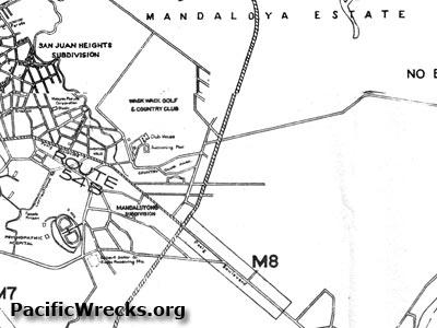 Pacific Wrecks Map Of Mandaluyong East Airfield Wack Wack Golf - Mandaluyong map