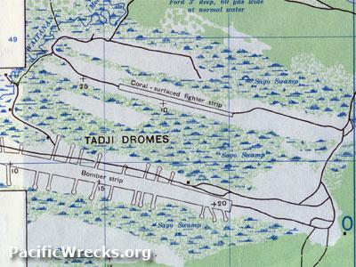 Tadji Airfield Map - Us army strip map