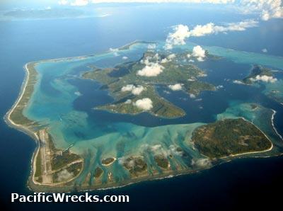 Pacific Wrecks Bora Bora Island Pora Pora French Polynesia