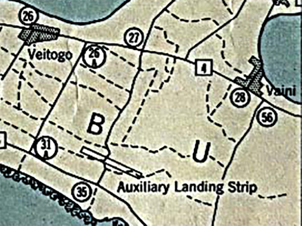 PacificWrecks Map Of Auxiliary Landing Strip On Tongatabu Island - Us army strip map