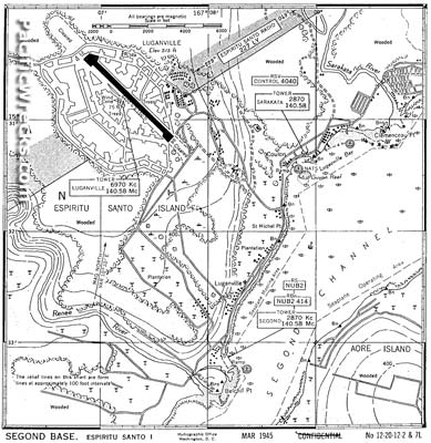 Luganville Airfield and Segond Base Area