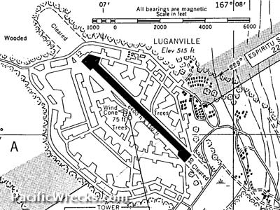 Map of Luganville Airfield