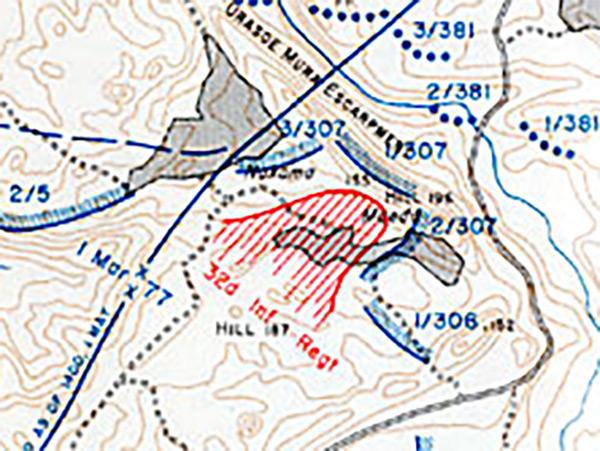 Pacific Wrecks Map Of Maeda Escarpment Hacksaw Ridge Big Escarpment On Okinawa Island