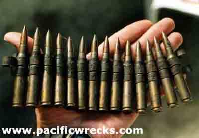 Machine Gun Bullet Belt Belt of 30 Caliber Machine Gun