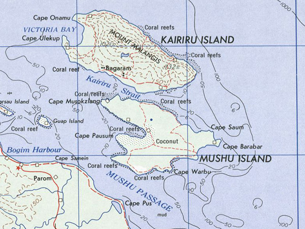 Map Of The Island Of New Guinea