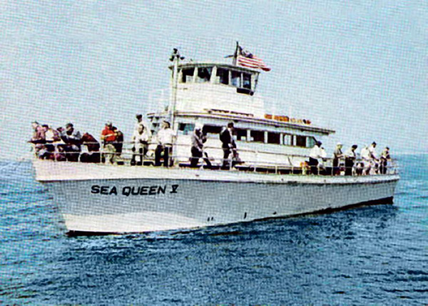 Pacific wrecks sea queen v with passengers at sea off for Fishing boats nyc