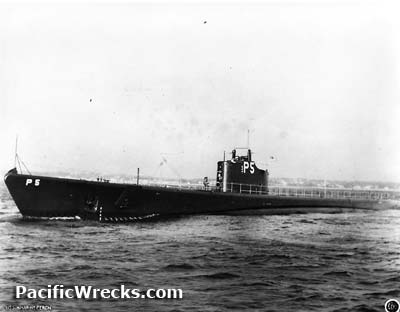 Pacific Wrecks - USS Perch SS-176 departs Electric Boat